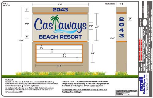 custom-sign-design-florida-castaways-beach-resort